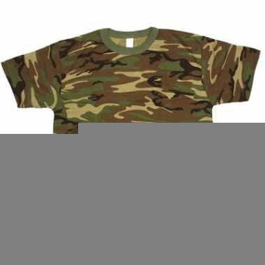 Leger t-shirt camouflage print