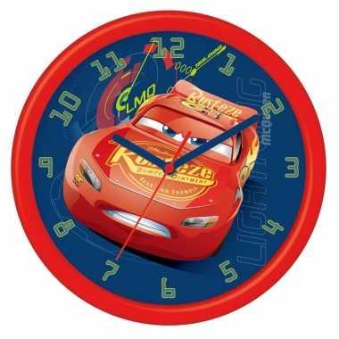 Leren klokkijken cars analoge klok 26 cm