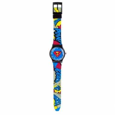 Leren klokkijken superman horloge analoog