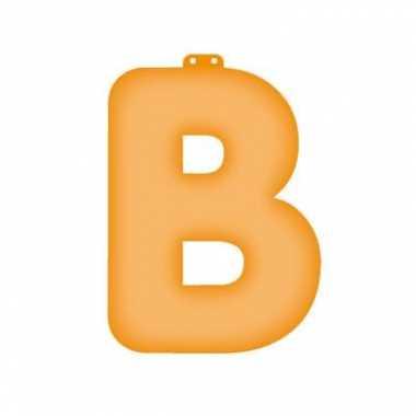 Letter b opblaasbaar