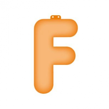 Letter f opblaasbaar