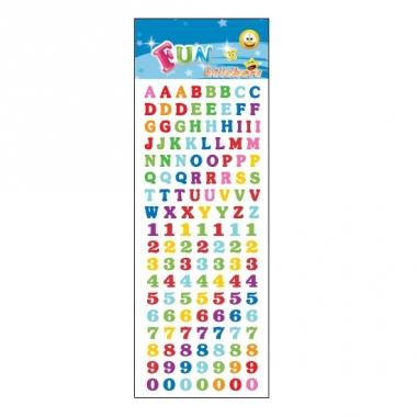 Letters cijfers alfabet stickervellen