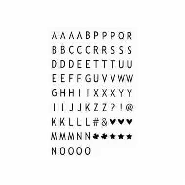 Letters voor in lichtbak
