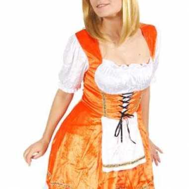 Leuk oranje oktoberfest jurkje