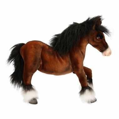 Levensechte hansa pluche paard knuffel 50 cm
