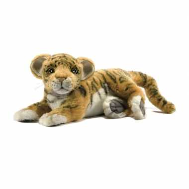 Levensechte hansa pluche tijger welp knuffel 26 cm