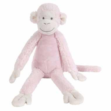 Licht roze knuffel aap 32 cm