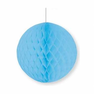 Lichtblauw thema papieren bal 10 cm