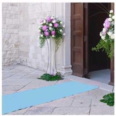 Lichtblauwe decoratie loper 1 meter breed