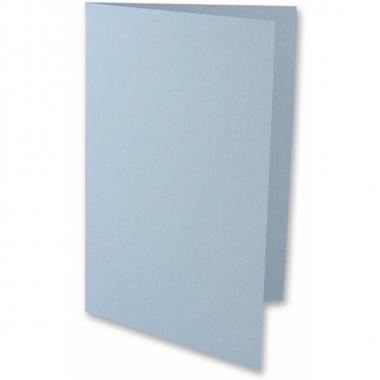 Lichtblauwe onbedrukte wenskaarten 5x