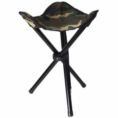 Lichtgewicht campingstoeltje camouflage