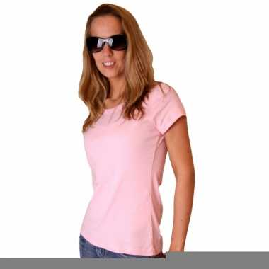 Lichtroze dames shirtje van bella trend