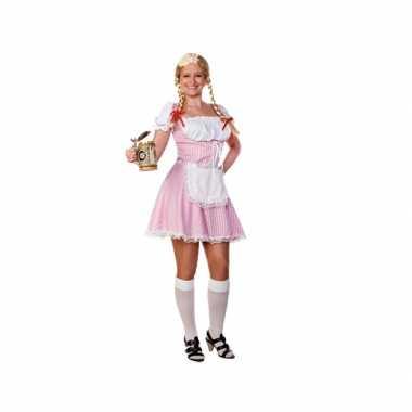 Lichtroze dirndl jurk voor dames