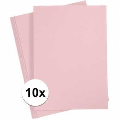 Lichtroze knutselpapier a4 formaat