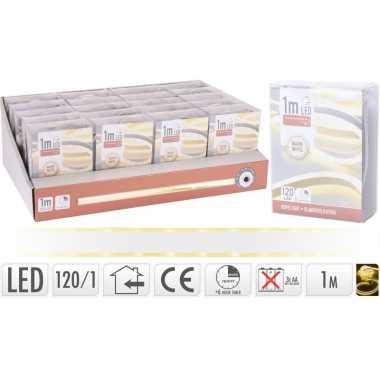 Lichtslang led strip op batterij warm wit binnen 1 meter