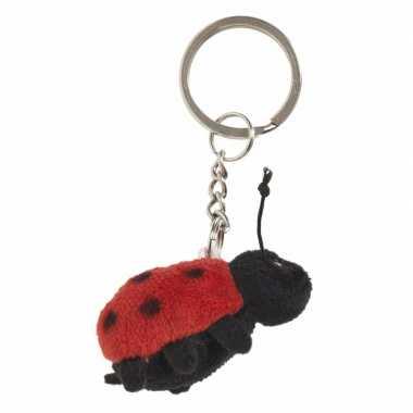 Lieveheersbeestje sleutelhangers 6 cm