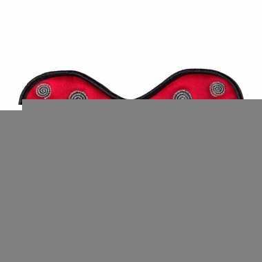 Lieveheersbeestjes oogmasker rood voor kinderen