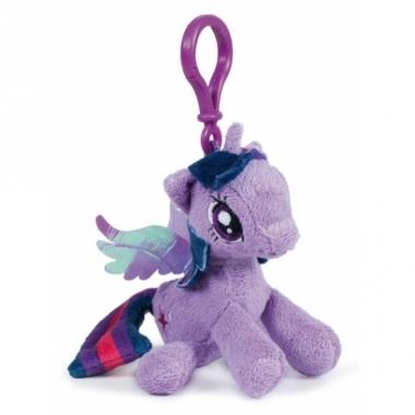 Lila my little pony schoenkado sleutelhanger 12 cm
