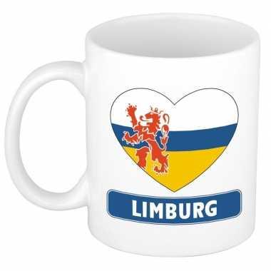 Limburgse vlag hartje theebeker 300 ml