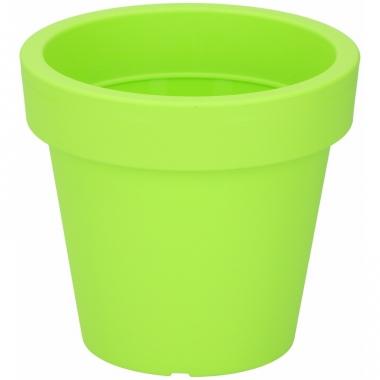 Lime grone sierpot 16 cm voor binnen of buiten