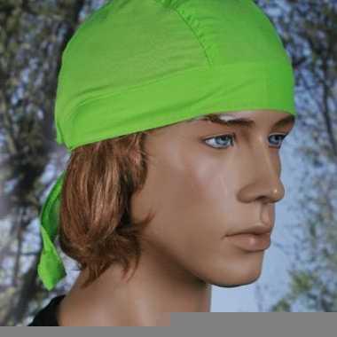 Lime kleurige hoofddoek uni 1