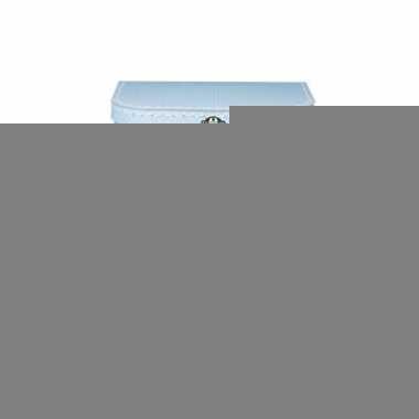 Logeerkoffer licht blauw/wit 30 cm