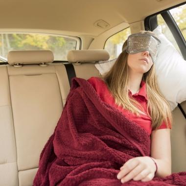 Luxe grijs gel oogmasker/slaapmasker