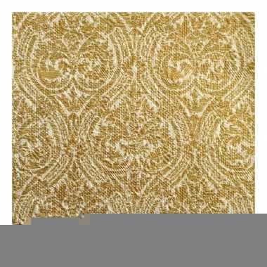 Luxe servetten barok motief goud 3-laags 15 stuks