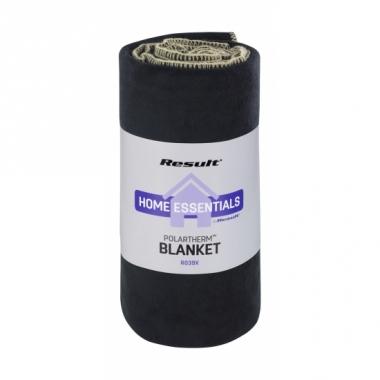 Luxe zwarte fleece deken plaid trend