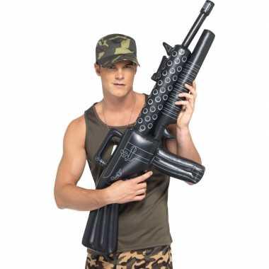 Machinegeweer zwart opblaasbaar
