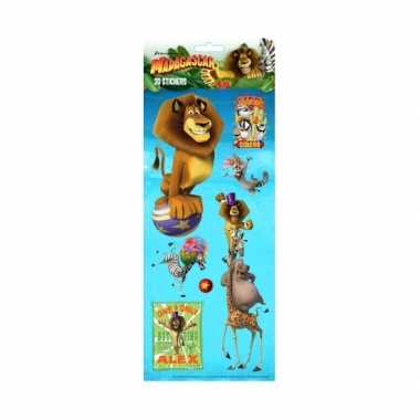 Madagascar 3d stickervellen