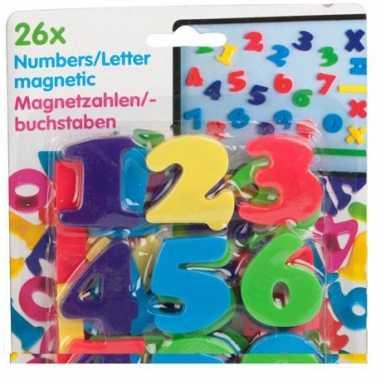 Magnetische alfabet cijfers