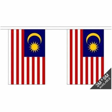 Maleisi? vlaggenlijn van stof 3 m
