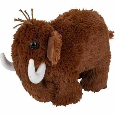 Mammoeten speelgoed artikelen mammoet knuffelbeest bruin 26 cm