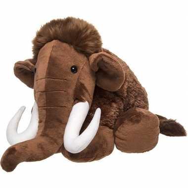 Mammoeten speelgoed artikelen mammoet knuffelbeest bruin 40 cm