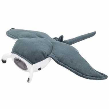 Mantaroggen speelgoed artikelen mantarog knuffelbeest grijs 43 cm