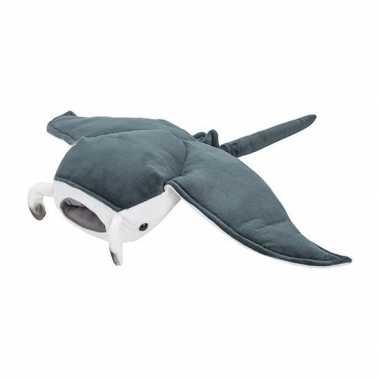 Mantaroggen speelgoed artikelen mantarog knuffelbeest grijs 53 cm