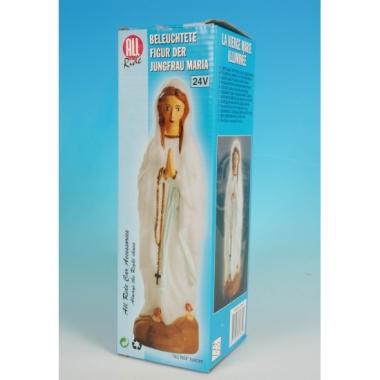Maria beeld met licht
