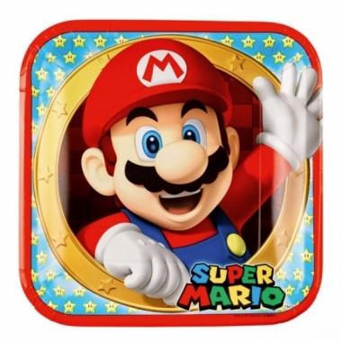 Mario en luigi kartonnen bordjes 8 stuks