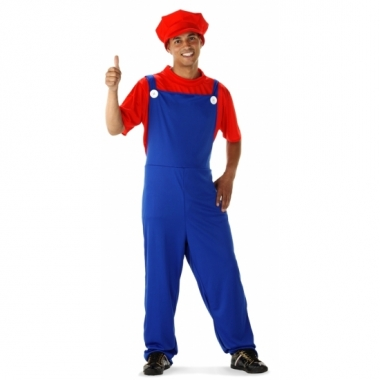 Mario heren verkleedkleding