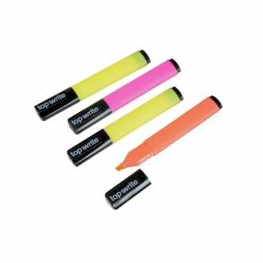 Markeerstiften neon kleure set van 4