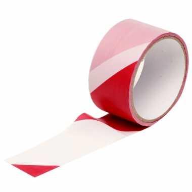Markeertape rood/wit 25m