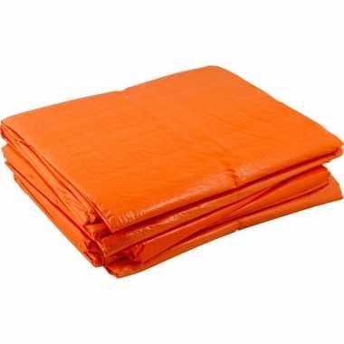Markt afdekzeilen oranje 2 x 3 meter