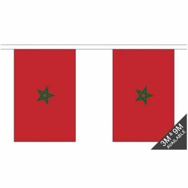Marokko vlaggenlijn van stof 3 m
