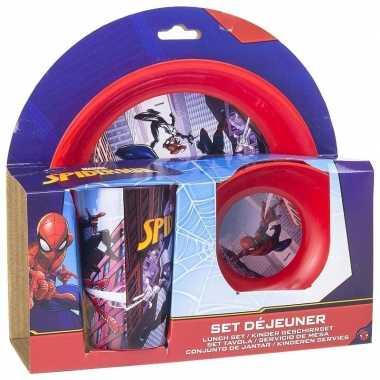 Marvel spiderman ontbijtset 3-delig kinder servies
