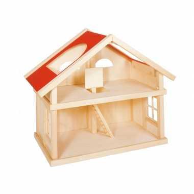 Massief houten poppenhuis 2 etages voor kinderen
