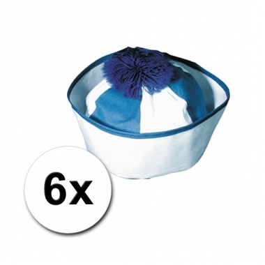 Matroos hoedjes blauw 6x