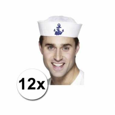 Matrozen pakket met 12 matrozen petten en 16 zeemans tattoos