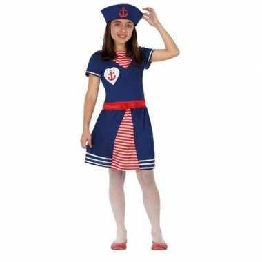 Matrozen verkleed jurkje/kostuum voor meisjes
