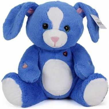 Medium blauwe pluche konijn 30 cm